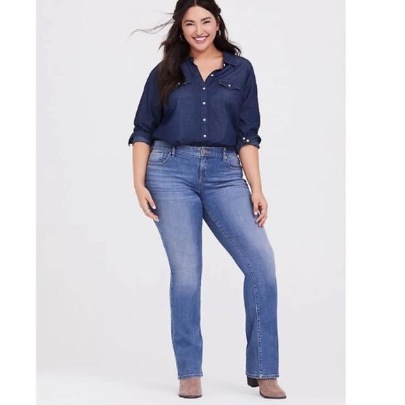Torrid Slim Boot Light Wash Stretch Jeans
